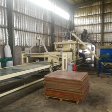 岩棉砂浆复合板设备与水泥岩棉复合板设备厂家一机多用图片