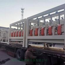 康洛机械模箱压制匀质板切割锯,秦皇岛颗粒板全自动高速带锯安全可靠图片