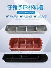 复合树脂四孔仔猪补料槽母猪产床小猪料槽镀锌长条食槽钢板食槽图片