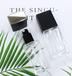 透明玻璃粉底液精華瓶_方形化妝品瓶_廠家直銷