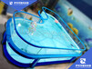 福建漳州全透明钢化玻璃泳池厂家伊贝莎