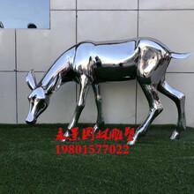 不锈钢镜面鹿雕塑造型大全图片