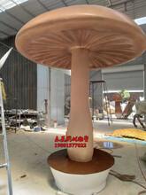 玻璃钢蘑菇凉亭雕塑图片