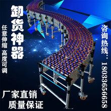 无动力卸货输送线卸货神器滚筒输送机价格图片