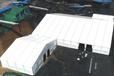 環保型倉儲篷房大跨度無需基礎全封閉式倉儲氣膜