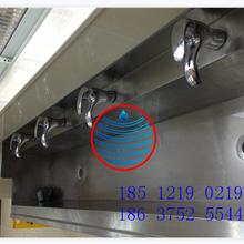 衢州鹿鳴學校衛生間感應不銹鋼小便槽池訂做安裝圖片