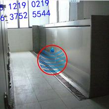杭州感應沖水不銹鋼小便槽池洗手臺訂做憶水廠家圖片
