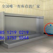 臺州車間廁所感應不銹鋼小便槽池洗漱臺廠家安裝圖片