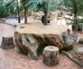 大連擬木桌椅制作施工