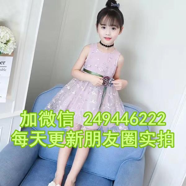 河南南陽服裝城幾元新款童裝網紗裙 韓版童裝連衣裙夏裝童裝批發外貿尾貨