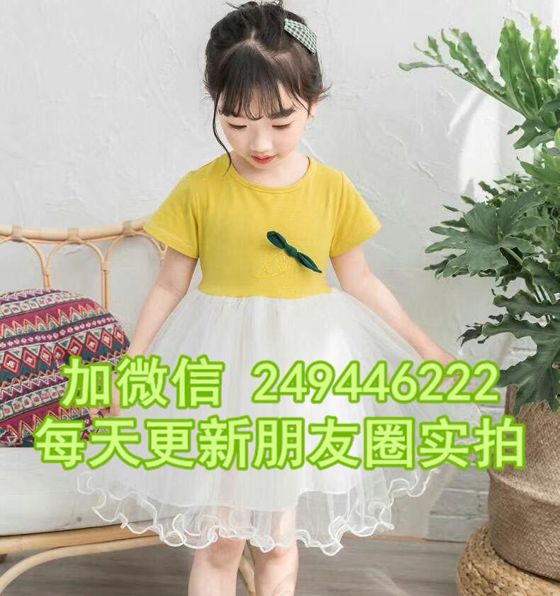 山西臨汾一手服裝實體店雪紡女裙韓版童批發廠家