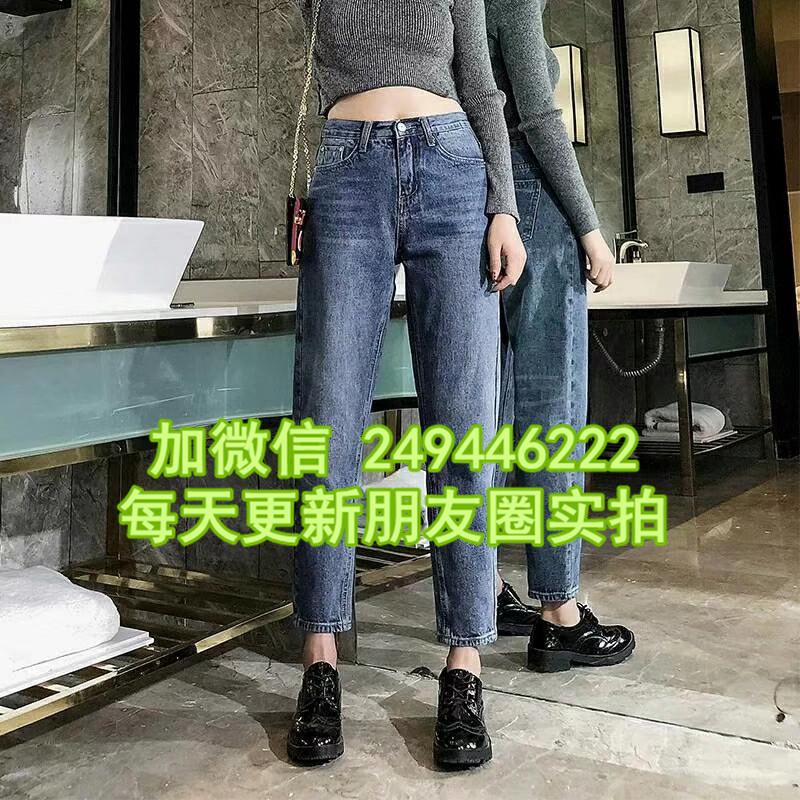 安徽六安尾货市场夏装新款绣老裤 大码直筒牛仔裤广州尾货1元2元服装