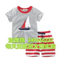 四川乐山服装城几元库存低价长袖T恤几元地摊童半袖套装图片