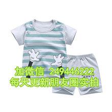 内蒙古呼伦贝尔几元新款两件套短袖休闲纯棉中小童长袖图片