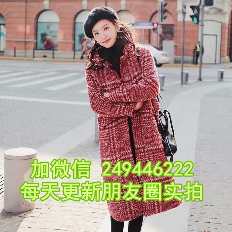 江西鷹潭幾元衣服 短款百搭羊絨大衣甩賣地攤甩賣女羊絨大衣