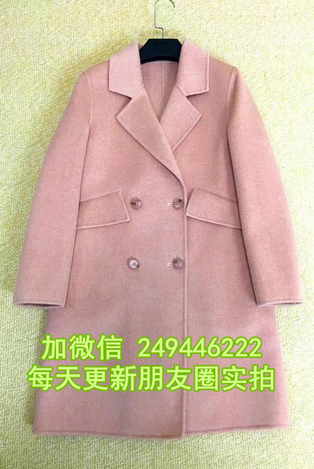 秋冬長款羊絨女外套地攤尾貨網 雙面呢女式外套