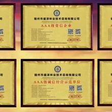 办理浙江企业投标招标资质证书AAA企业荣誉证书图片
