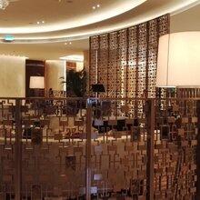 澳門大型酒店隔斷定制香檳金大堂客廳不銹鋼屏風香檳金不銹鋼屏風圖片