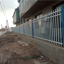 小区锌钢围墙,花园铁艺锌钢围墙图片