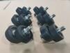 擋板滾輪軸承包膠輪304芯軸聚氨酯PU包膠輪非標定制零件
