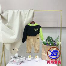 一线品牌巴布豆羽绒服品牌童装折扣尾货批发库存厂家货源图片