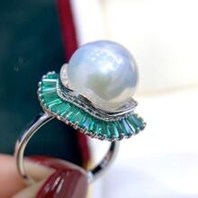 淡水珍珠爱迪生12-13mm珍珠戒指图片