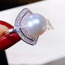 不一样的风景淡水珍珠11-12mm纯银戒指图片