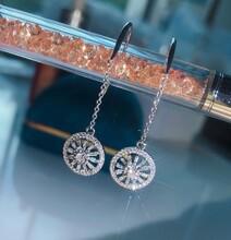 18K金异形钻石耳环钻石0.48ct图片