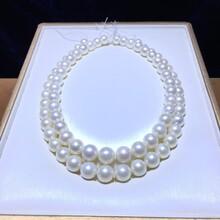 特价天然海水澳洲白珠项链10-13mm正圆有瑕不影响社交图片