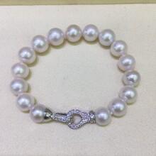 淡水珍珠手链9-10mm近圆微瑕淡水珍珠爱迪生图片