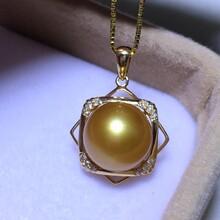 天然菲律宾超浓金金珠吊坠珍珠吊坠图片