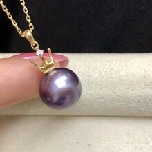 批发广州黄埔珍珠淡水珍珠爱迪生紫色珍珠图片