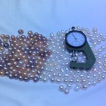 淡水珍珠DIY真珍珠米型原料裸珠无孔强光无瑕按斤按颗图片
