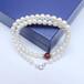 直播供貨淡水珍珠項鏈7-8mm四面光厚扁項鏈羅紋可訂制款式