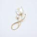 秋冬珍珠胸針胸花淡水珍珠圓珠8-9mm正圓無瑕銅鍍金白貝花款
