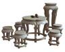 石桌石椅花崗巖雕塑石材手工石雕工藝品居家庭院公園廣場園林擺件