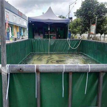 供应湖南防水帆布蓄水池帆布鱼池PVC帆布储水池防雨布