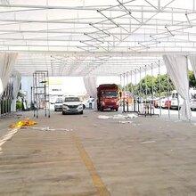 定制大型移动推拉雨棚收缩帐篷移动伸缩雨棚活动帐篷大型仓库棚图片