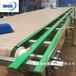非標定制塑料尼龍鏈板輸送機產品從生產流水線尼龍網帶輸送機