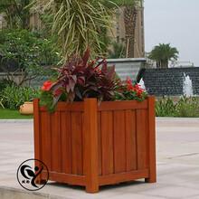 炭化木防腐木花箱图片