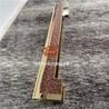 镜面钛金搭配红古铜水波纹拉手,不锈钢精品拉手定制厂家
