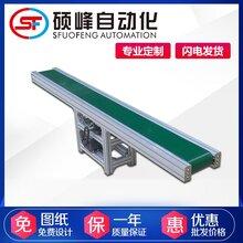 專業流水線平面輸送帶非標定制產品綠色皮帶輸送機自動化設備圖片