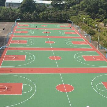 深圳硅PU地面施工-籃球場羽毛球場硅PU-網球場施工