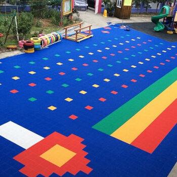 懸浮地板鋪裝-幼兒園操場地面施工-深圳懸浮地板廠家-