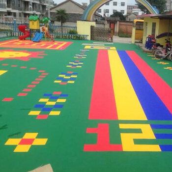 深圳懸浮拼裝地板-幼兒園操場地面鋪裝-校園懸浮地板施工