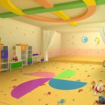 教室PVC地板-深圳樓梯走道地板鋪設-幼兒園PVC地板施工-防滑耐磨