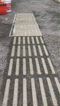透水混凝土路面一體化盲道盲道路面施工圖片