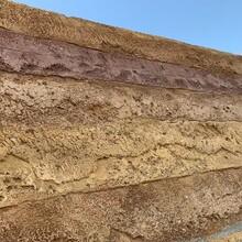 浙江寧波夯土施工隊仿舊黃泥土自裂紋墻面做法圖片