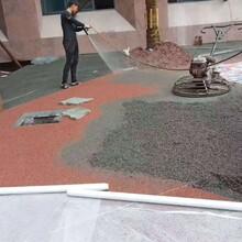 江苏扬州露骨料透水混凝土露骨料景观路面施工图片