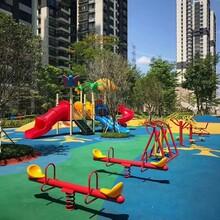 三亞廣場兒童滑梯場地施工圖片